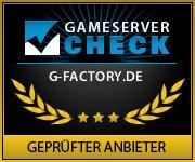 GameserverCheck - Geprüfter legaler Anbieter: g-factory.de